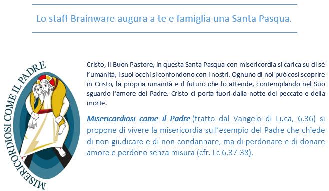 Noi di Brainware auguriamo a te e famiglia una Santa Pasqua